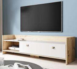 TV-Lowboard Close in Eiche Artisan und weiß TV-Unterteil 140 cm