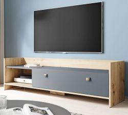 TV-Lowboard Close in Eiche Artisan und graphit TV-Unterteil 140 cm
