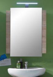 Spiegelschrank Campus San Remo Eiche hell mit weiß 60 x 80 cm