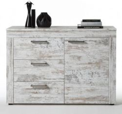 Sideboard Kommode River Canyon Pinie weiß Vintage Shabby Chic Breite 124 cm