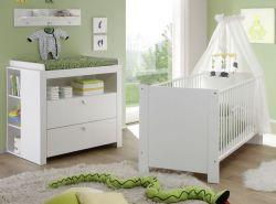 Babyzimmer komplett Olivia 4-teilig, weiß