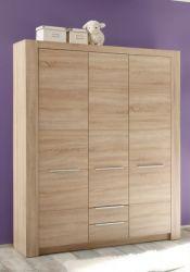 Babyzimmer Kinderzimmer Kleiderschrank Carlotta Sonoma Eiche hell 3-türig 144 cm