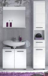 Badmöbel Set Skin Badezimmer Hochglanz weiß 3-teilig