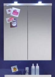Badezimmer: Spiegelschrank Nightlife weiß tiefgezogen (65x80 cm)