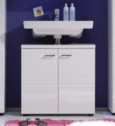 Waschbeckenunterschrank Nightlife Hochglanz weiß, tiefgezogen (65 x 63 cm)