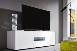 Lowboard TV-Unterteil Imola weiß Hochglanz echt lackiert 150 x 45 x 39 cm