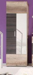 Garderobe Schuhschrank Flurgarderobe Polo 60 x 191 cm Canyon Monument Eiche mit Touchwood